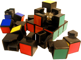 Disassembled rubix 1 200