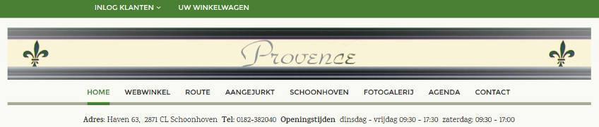 Provence webwinkel