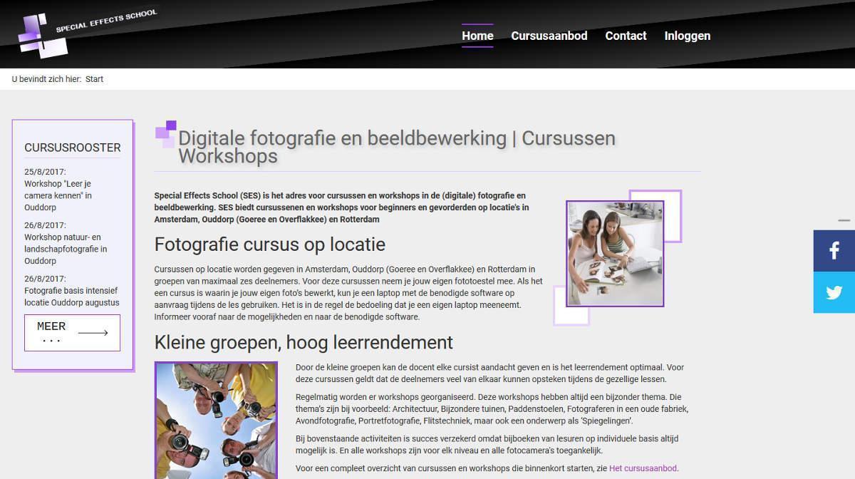Joomla website SEScursus