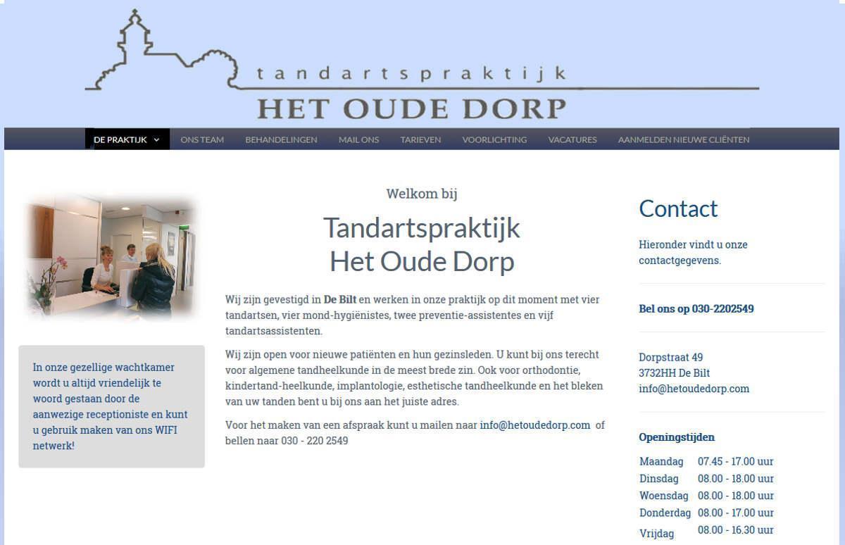 Joomla website Het Oude Dorp