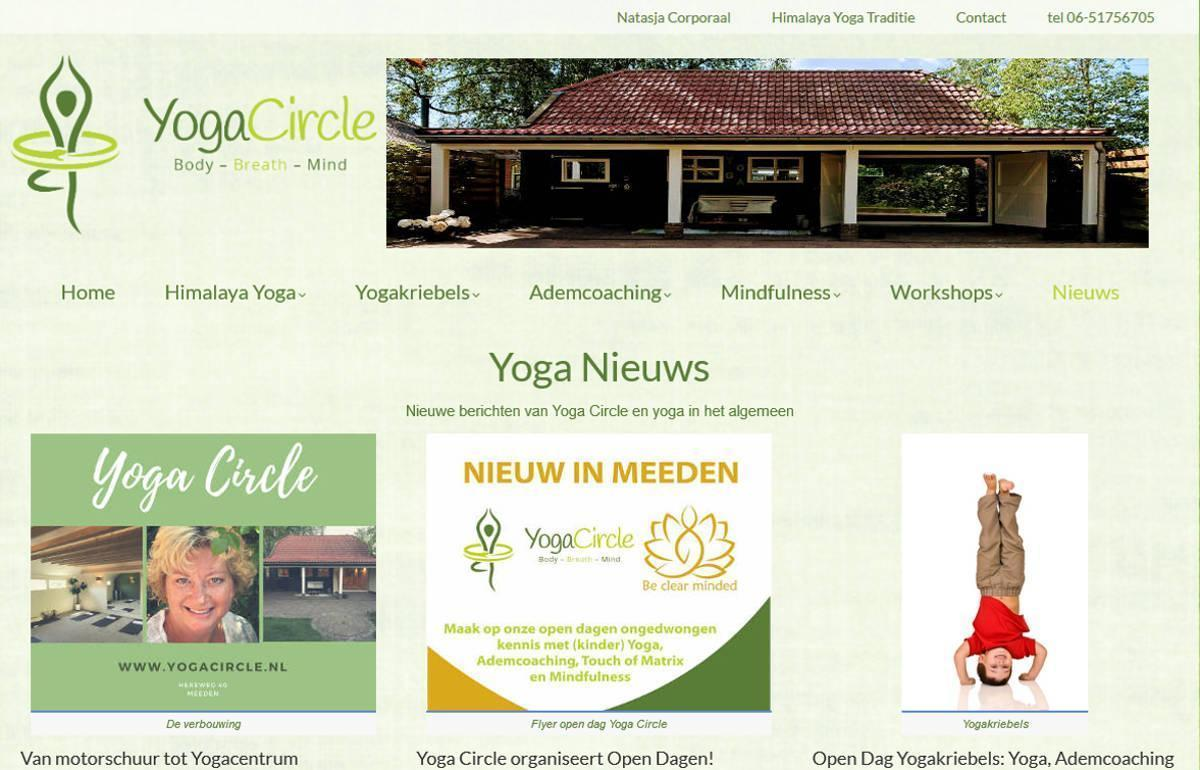 Joomla website YogaCircle