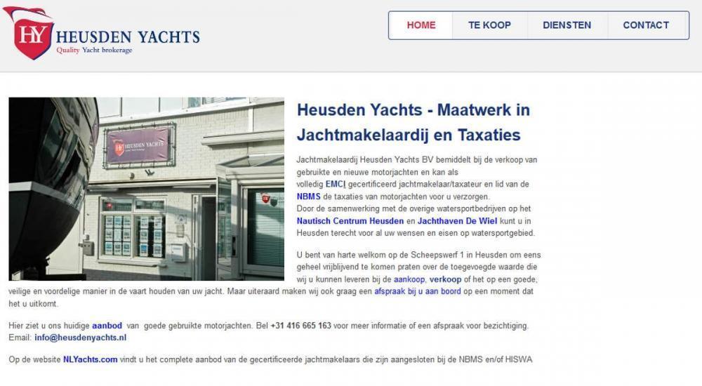 Joomla website HeusdenYachts