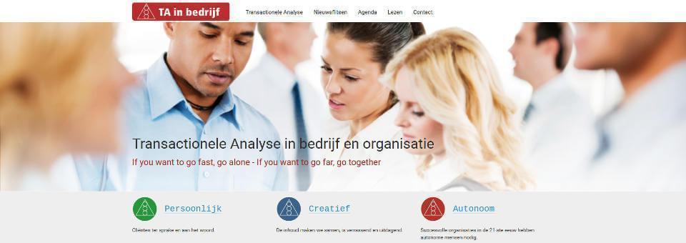 Joomla website TA in bedrijf