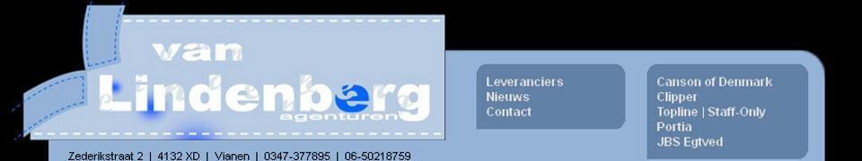 Joomla website Van Lindenberg Agenturen