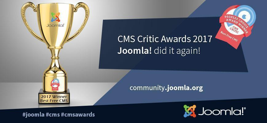Joomla beste gratis CMS Critic Awards 2017