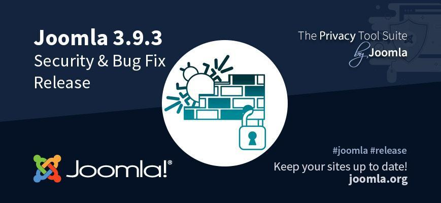 joomla update 3.9.3 security en bug fix