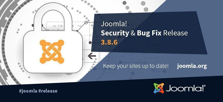joomla 3.8.6 bug security update